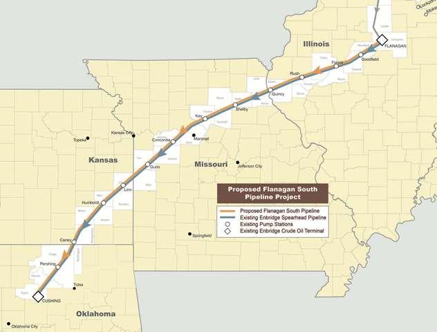 Enbridge's pipeline proposal.