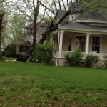 Photo by Miles-Carter of a tree limb down in the 900 block of North Main, Carrollton, MO. Sunday, April 27th, 2014.