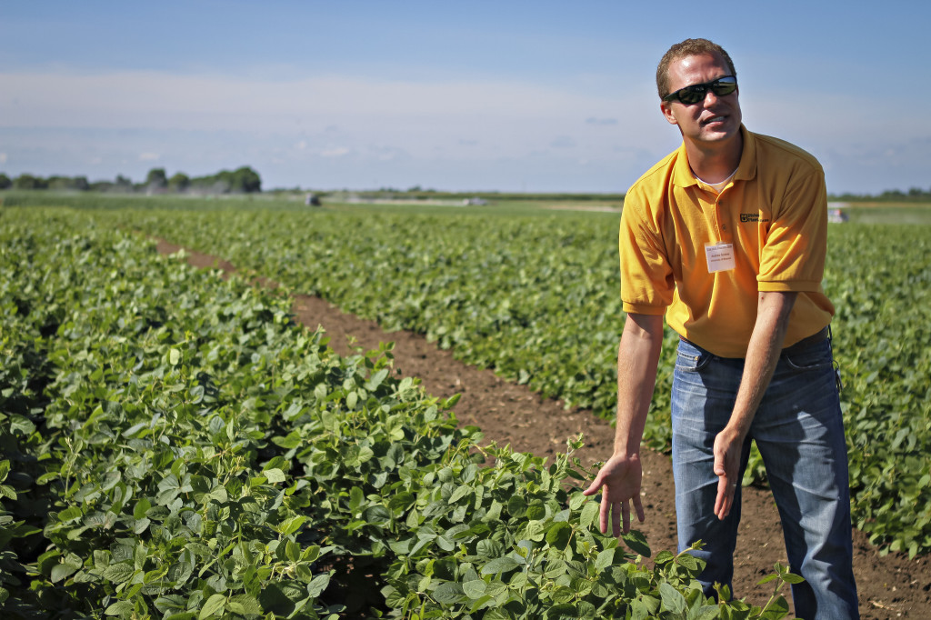 Photo Source: University of Misosuri CAFNR:  Senior Research Scientist Andrew Scaboo will speak on soybean breeding concepts and will take participants on tours of the research fields at Bradford.
