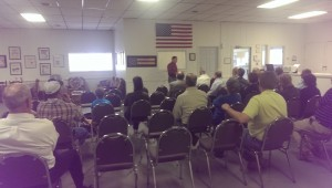 U.S. Representative Sam Graves addressing the community of Linn County