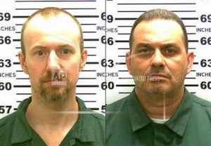 This combination made from photos released by the New York State Police shows inmates David Sweat, left, and Richard Matt.