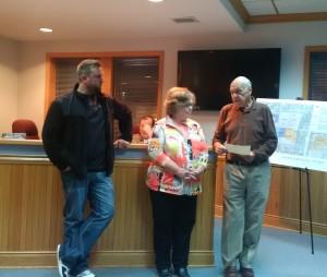 Josh Norris (r), Karen Dixon (c) and Mayor Chuck Haney (l)