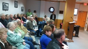 It was standing room only Monday, November 30, 2015 as members from the local senior center awaited a decision on a major repair project.