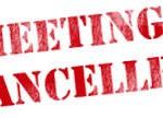 Carrollton Genealogy meeting cancelled