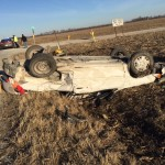 Rollover wreck on Highway 10
