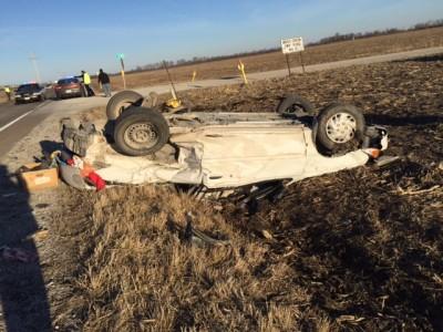 BREAKING – Rollover wreck on Highway 10