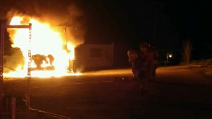 The semi was a total loss in a fire on the Old Chillicothe Women's Prison property on 3rd Street, Monday night.