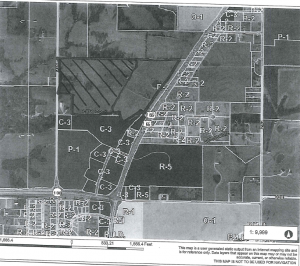 This is the largest of the two tracts being discussed at the May 9, 2016 city council meeting in Chillicothe, Mo.
