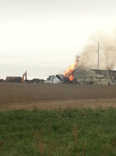 Fire Reported in Marshall