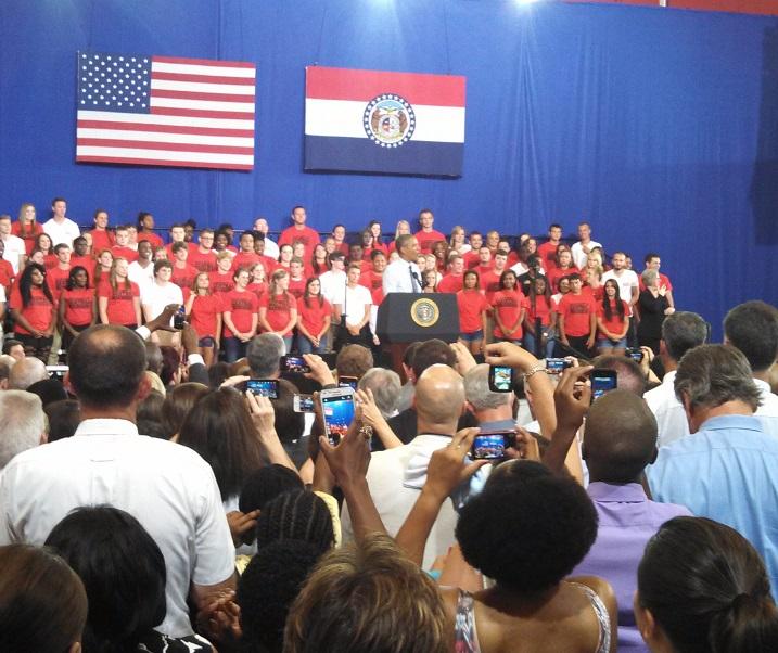 Economy, Education Star in Obama's Remarks