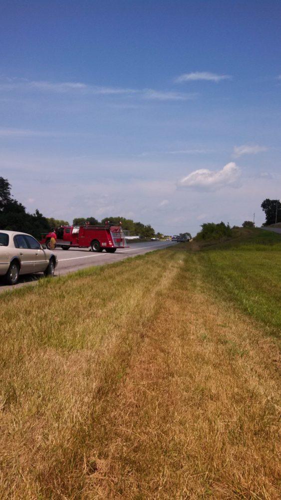 Traffic Blocked on Highway 10
