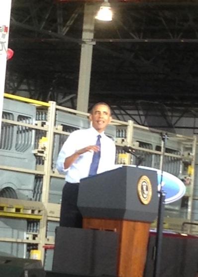Obama Visits Missouri, Promotes Middle Class