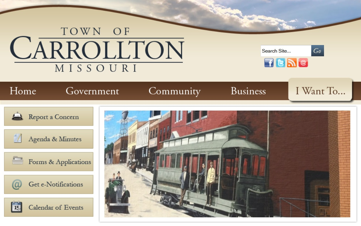 Carrollton Launches New Website