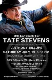 Tate Stevens at Linn Co. Fair