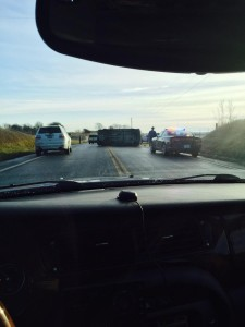 Photo of the crash scene, courtesy of Joe Don McGaugh.