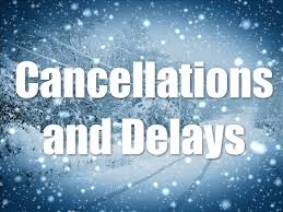 Cancellations – Sunday, January 4th