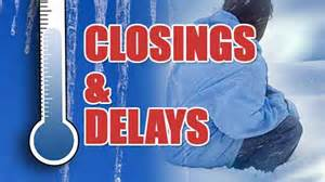 Closings, cancellations and delays for Tuesday, November 27, 2018
