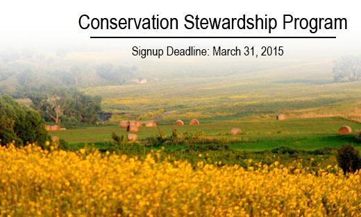Conservation Stewardship Program Re-Enrollment Deadline Looming