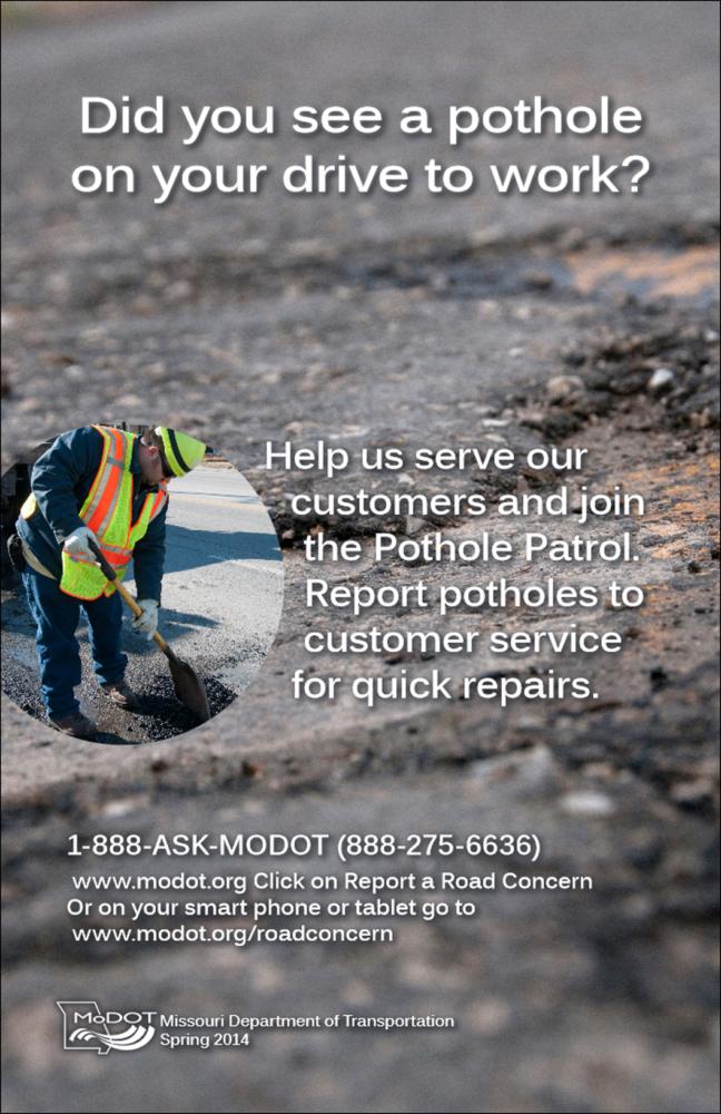 MoDOT Pothole Patrol kicks off
