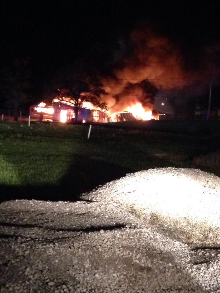 Breaking News: UPDATE- Reports of Chillicothe Bus Barn on Fire