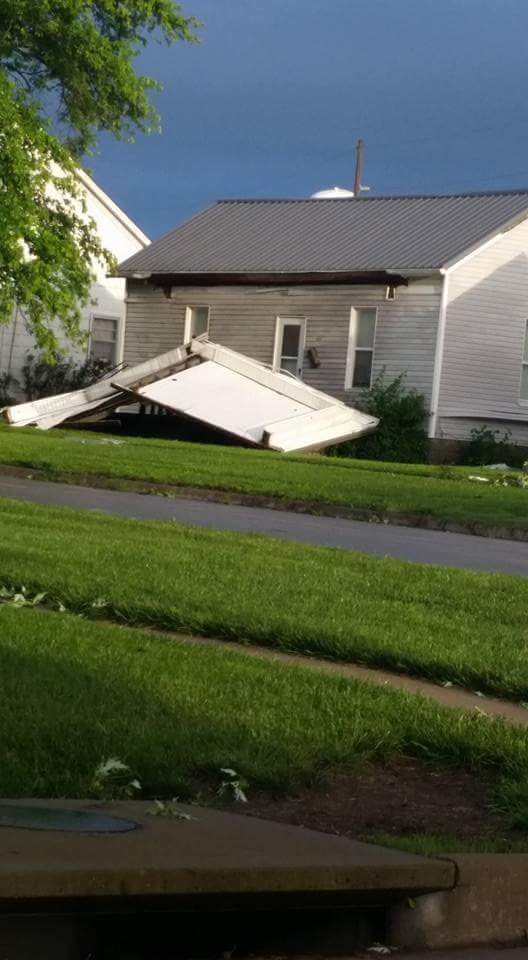 Higginsville Struck by Strong Storm Early Tuesday
