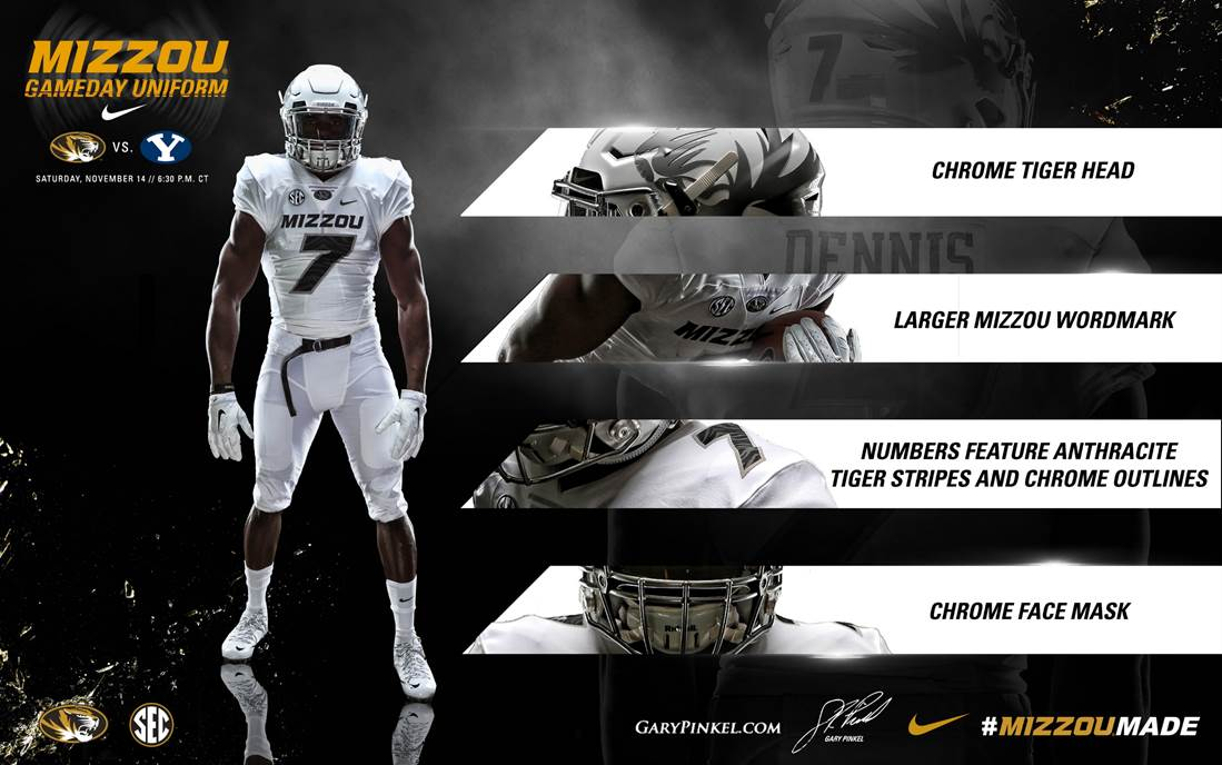 Mizzou set to unveil special Nike uniforms Saturday vs. BYU