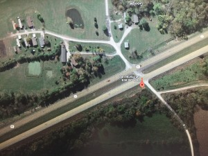 Google Earth image of the intersection described in the Highway Patrol release.