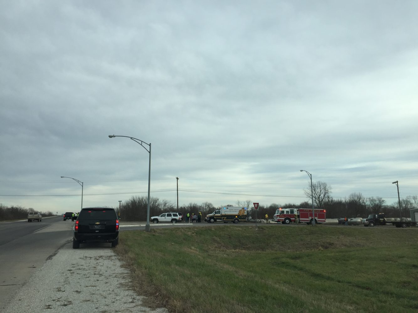 Marshall highway intersection incident may cause slight delays