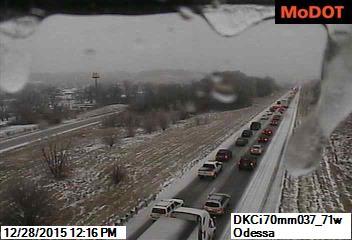 UPDATED 5 car crash causing delays on Interstate 70 near Odessa