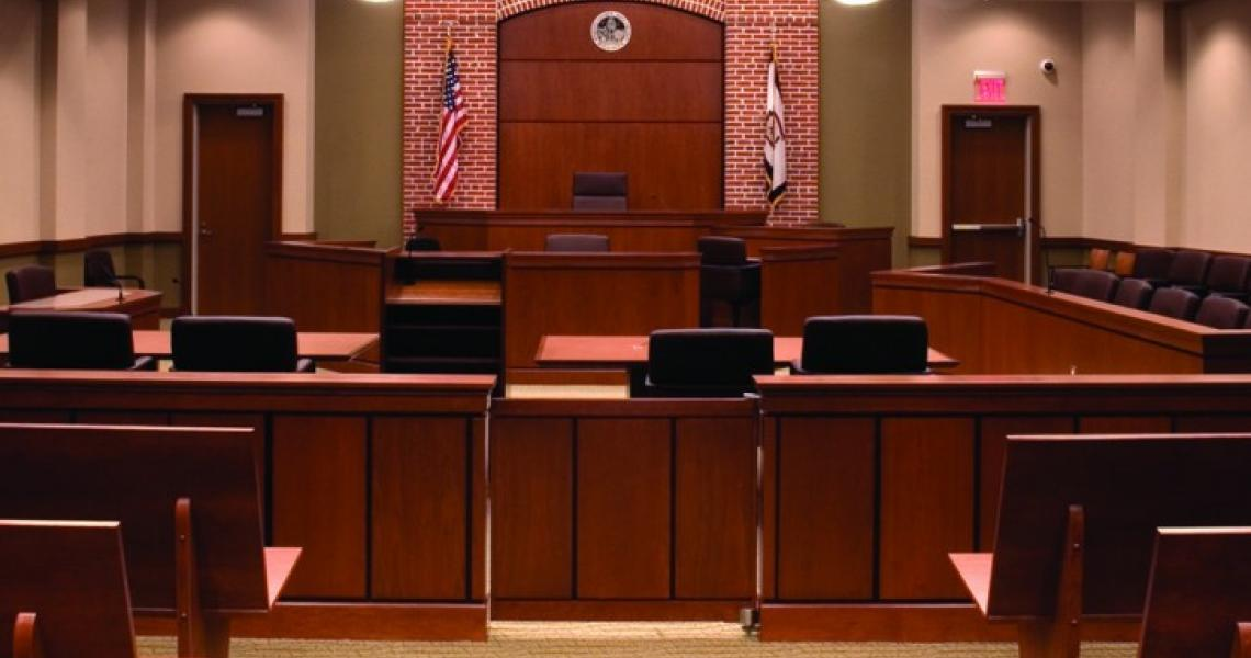 Trenton Court room set for trial