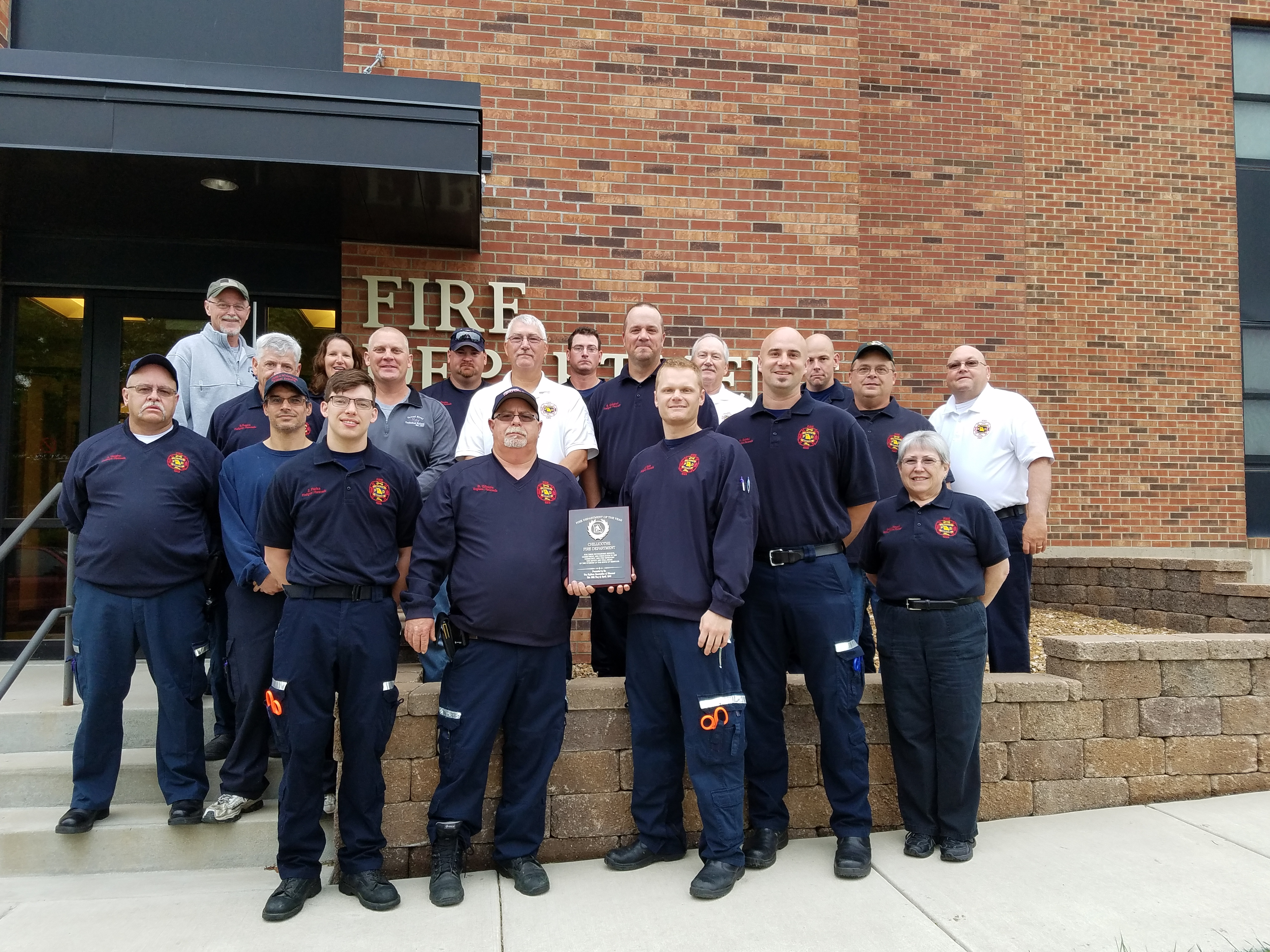Chillicothe Fire Department named Department of the Year for 2016