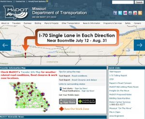 The MoDOT website is your portal to a comprehensive view of all road projects throughout the state of Missouri. Click here.