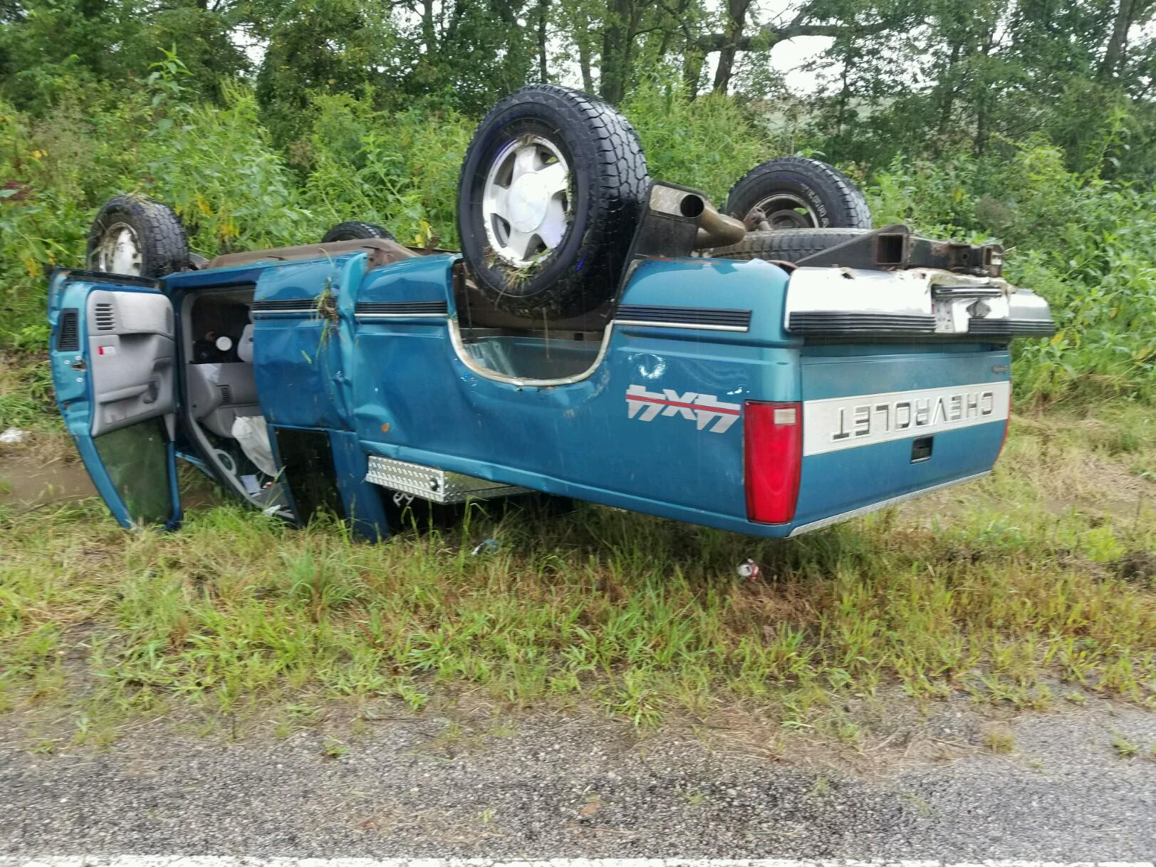 A wet road caused a crash in Callaway County