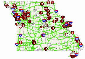 Road closings in Northwest Missouri