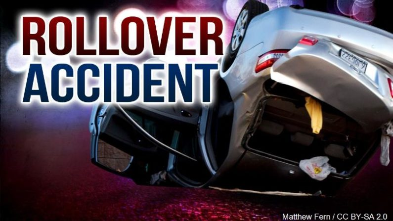 Woman suffers moderate injuries when car overturns in Benton County
