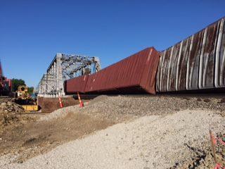 Crews work to clear train derailment in Carroll County