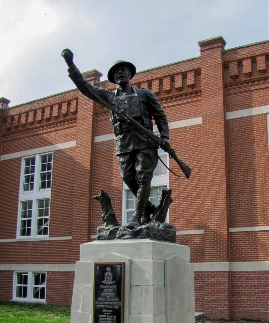 Doughboy's day in court: Wentworth Alumni Association wins rights to Doughboy statue