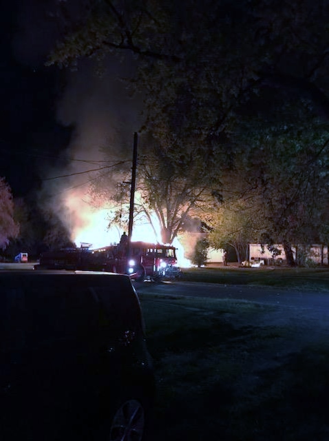 Home engulfed by flames in Polo