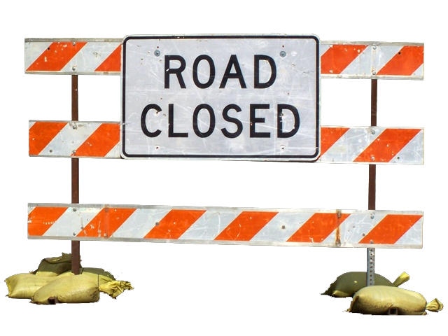 Local road closures on Saturday, May 30, 2020