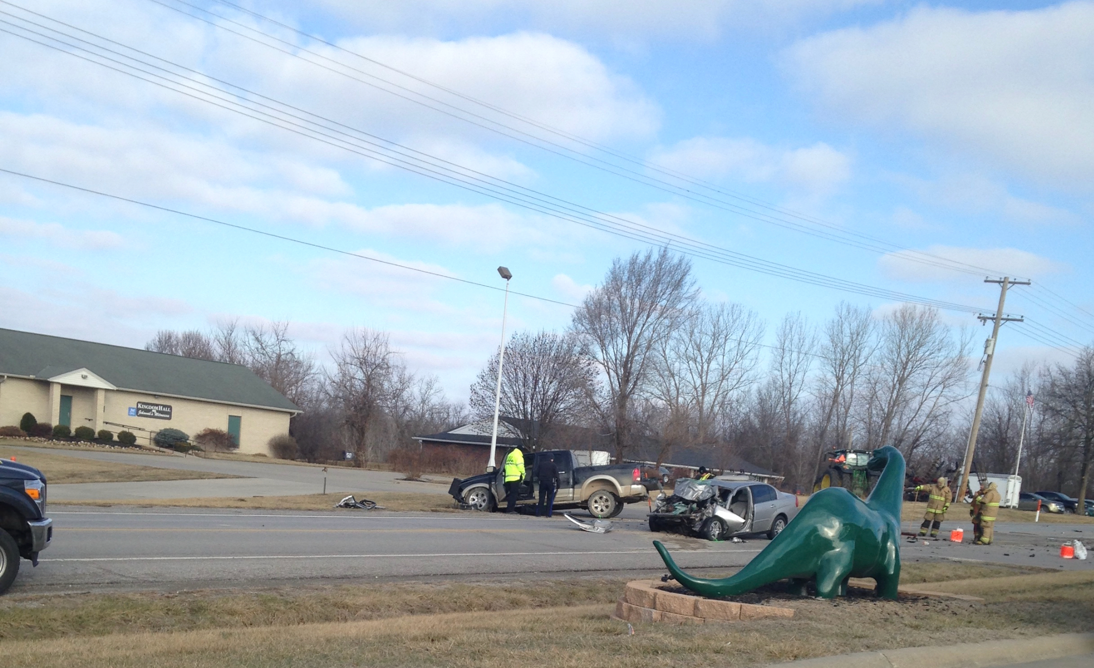 UPDATE: Highway 65 in Carrollton cleared after head-on collision Thursday morning