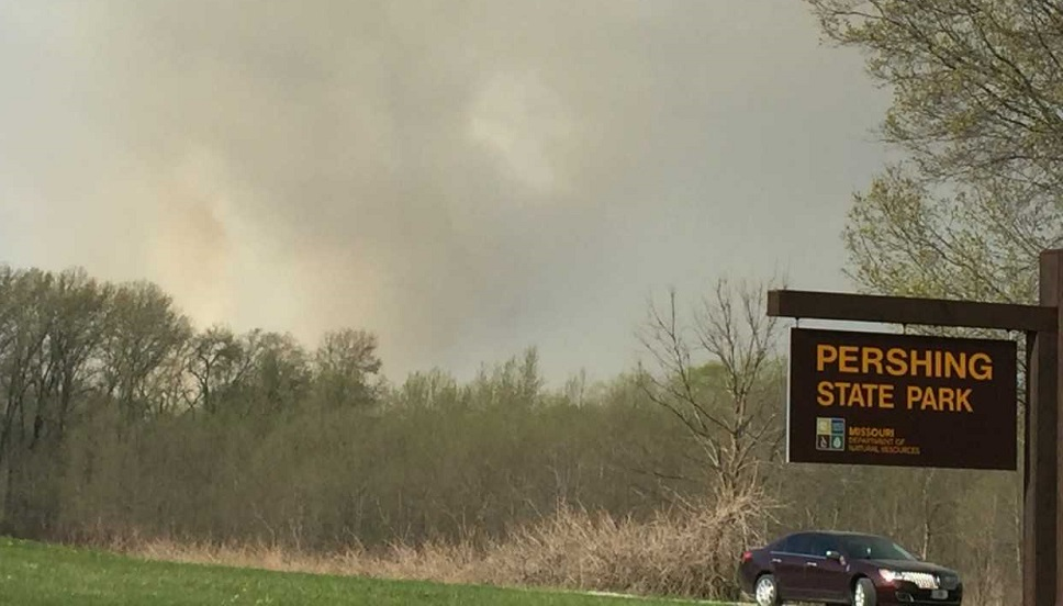 UPDATE: BREAKING NEWS — Fire crews at scene of natural cover fire at Pershing State Park