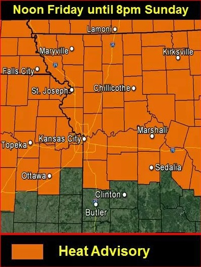 National Weather Service issues heat advisory through Sunday