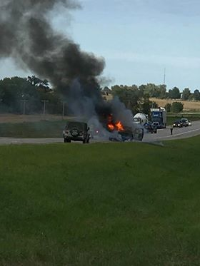 BREAKING:  Vehicle on fire being attended north of Chillicothe