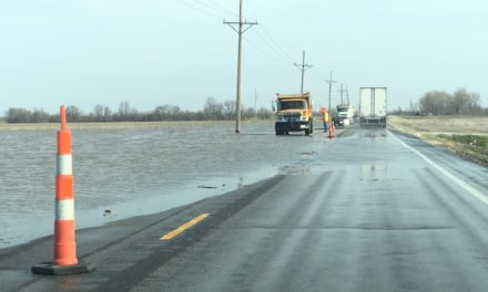 BREAKING NEWS — Water spilling on to 65 Highway in Carroll County, one lane blocked