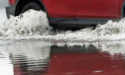 Driver attempting flood waters cited for ignoring barricades