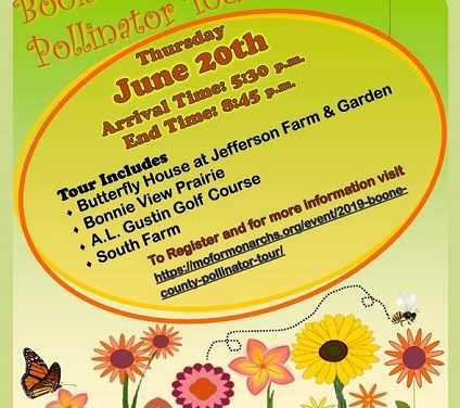 Pollinator Tour in Boone County hosted by MDC, partners