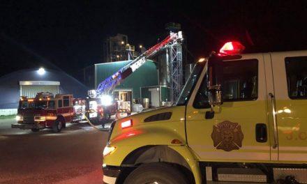 Explosions hamper firefighting effort in Johnson County