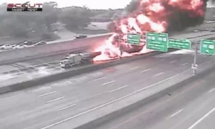 UPDATE: Interstate 49 fiery crash contained