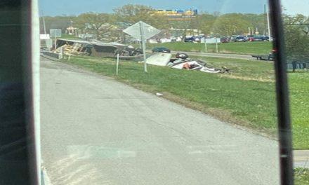 Semi accident slows traffic on I-70
