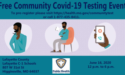 Free COVID-19 testing available in Higginsville next week